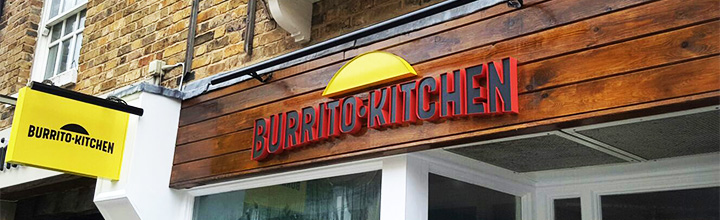 Gaelite UK serves up signage for new Burrito Kitchen outlet