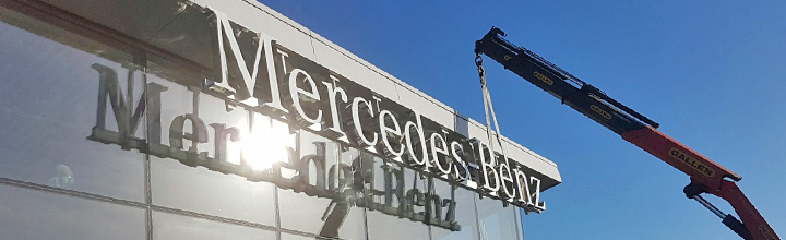 Mercedes-Benz signage installed at Cork  and Dublin dealerships