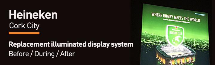 Heineken Cork City – Replacement Illuminated Display System